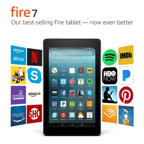 "Fire 7 Tablet with Alexa, 7"" Display, 8 GB, Black"