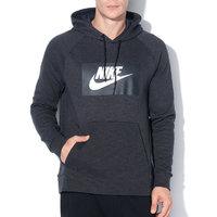 5cfa5a8ebc3 Мъжки Суитшърт черен меланж с лого - Nike