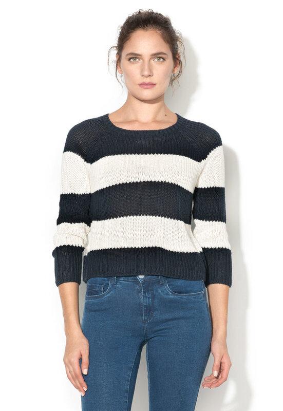 Пуловер на райе-Only