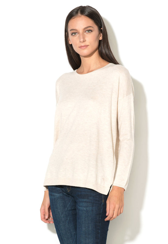 Пуловер с овално деколте-EDC by Esprit