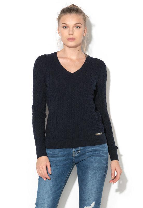 Пуловер с вълна и кашмир-SUPERDRY