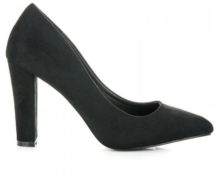 Обувки с Дебел Ток в Черно 107218 Zoki