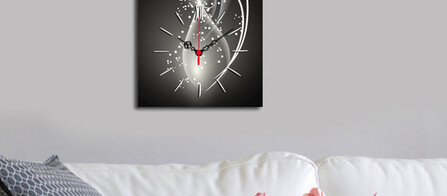 Deco Wall Black&White Wall Clock-Clock Art